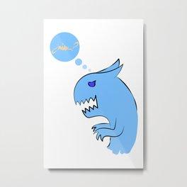 Dino-cat Metal Print