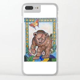 Siberian bear Clear iPhone Case