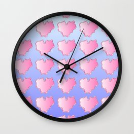 heart and blue Wall Clock