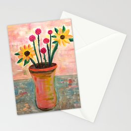 Fan's Daily life series-Happiness flowers in Palo Alto Stationery Cards