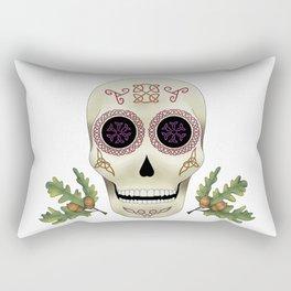Knotwork Skull Rectangular Pillow