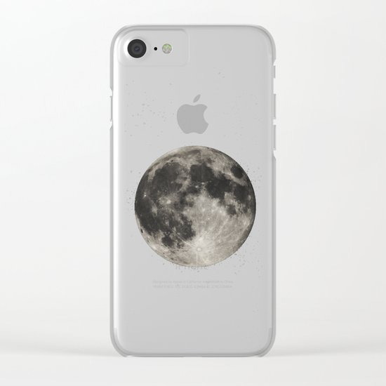 The Moon  [Sans Type] Clear iPhone Case