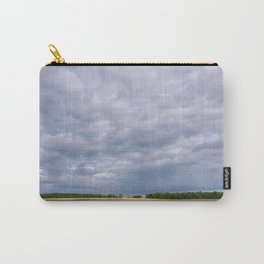 Dramatic rainclouds over rural field. Norfolk, UK. Carry-All Pouch