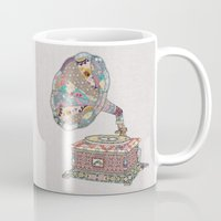 girl Mugs featuring SEEING SOUND by Bianca Green