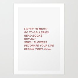 Listen to music Art Print