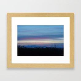 streaky sunset Framed Art Print