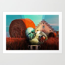 Snails escape Art Print