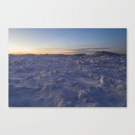 Minimal Winter Landscape in Wisconsin Canvas Print