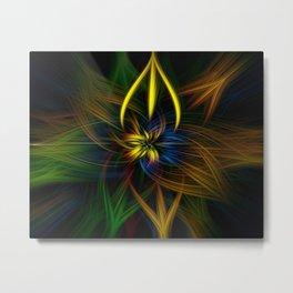 Colour twirls Metal Print
