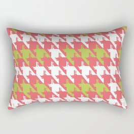 Where is the reindeer of Santa?_L White&Coral Rectangular Pillow