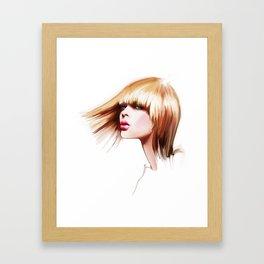 hairdress Framed Art Print