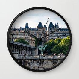 Pont de Bir-Hakeim over the Seine - Paris, France Wall Clock