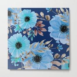 FLOWERS WATERCOLOR 26 Metal Print