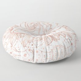 Mandala Lunar Rose Gold Floor Pillow