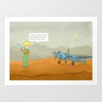 le petit prince Art Prints featuring  Le Petit Prince  by Ia Re