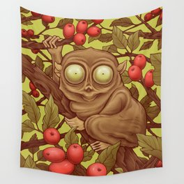 The Caffeinated Tarsier Wall Tapestry