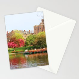 Swan boats Stationery Cards