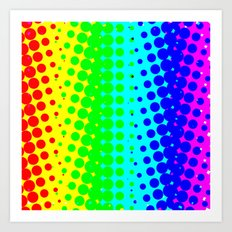 RAINBOW COLOR DOT Art Print