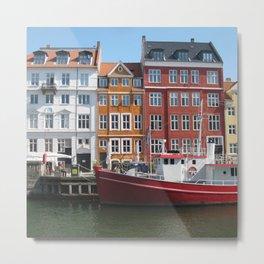 Nyhavn, Copenhagen Metal Print