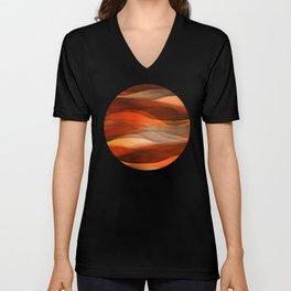 """Sea of sand and caramel waves"" Unisex V-Neck"