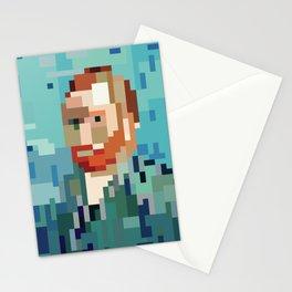 Low res Self Portrait Vincent Van Gogh Pixel art 8 Bit Mosaic Stationery Cards
