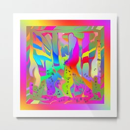 ABSTRACT WILDERNESS Metal Print