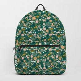 Dinosaur + Unicorns on Emerald Backpack