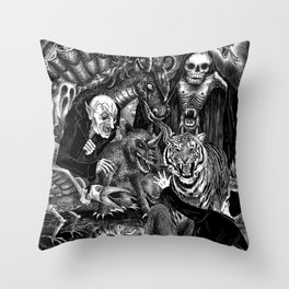 Fear Is The Devil Throw Pillow