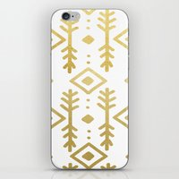 nordic iPhone & iPod Skins featuring GOLD NORDIC by Nika