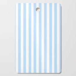 Classic Seersucker Stripes in Blue + White Cutting Board