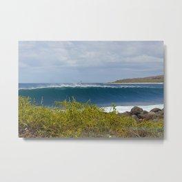 Galapagos Breaking Wave Metal Print