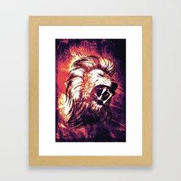 Power of the Lion Framed Art Print
