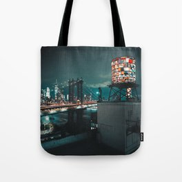 The Water Tower New York City (Color) Tote Bag