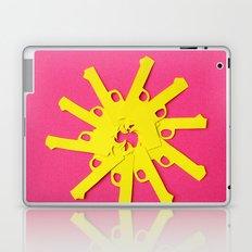 Gun Flower on Pink Laptop & iPad Skin