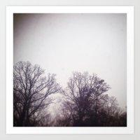 A winter morning Art Print