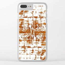 Bronze Abstract III Clear iPhone Case