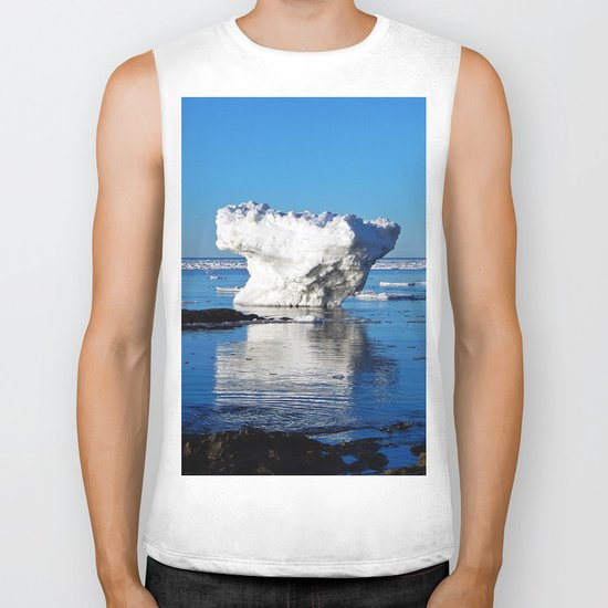Iceberg in the Shallows Biker Tank