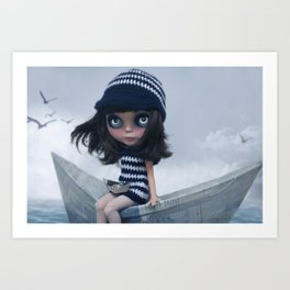 Erregiro Blythe Custom Doll The Hope Sailor Art Print