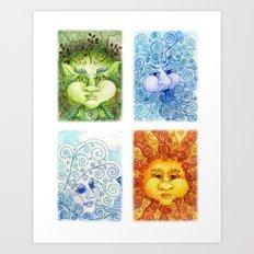The Four Elements Art Print