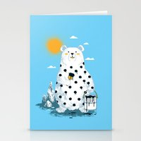 polka Stationery Cards featuring polka bear by Steven Toang