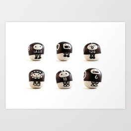 stoneheads 001 Art Print