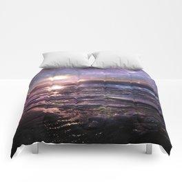mystic waters blue lavender burgundy Comforters