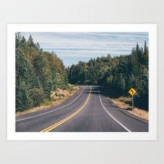 turn left Art Print