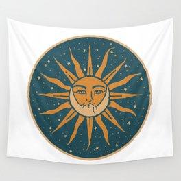 Sun, Moon & Stars Wall Tapestry