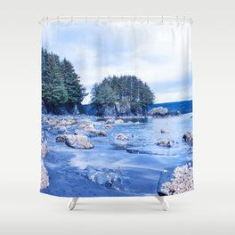 Spring Beach Photography Print Shower Curtain