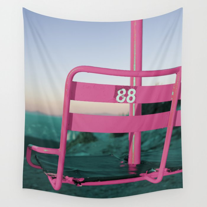 Pop Art 80's Chair Lift Wall Tapestry