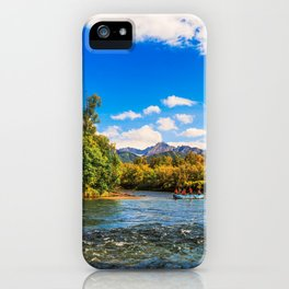 Rafting along the Bystraya (Fast) river, Kamchatka iPhone Case