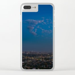 Moon Over LA Clear iPhone Case