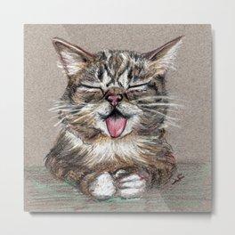 Cat *Lil Bub* Metal Print