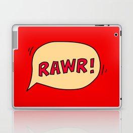 Rawr speech bubble Laptop & iPad Skin